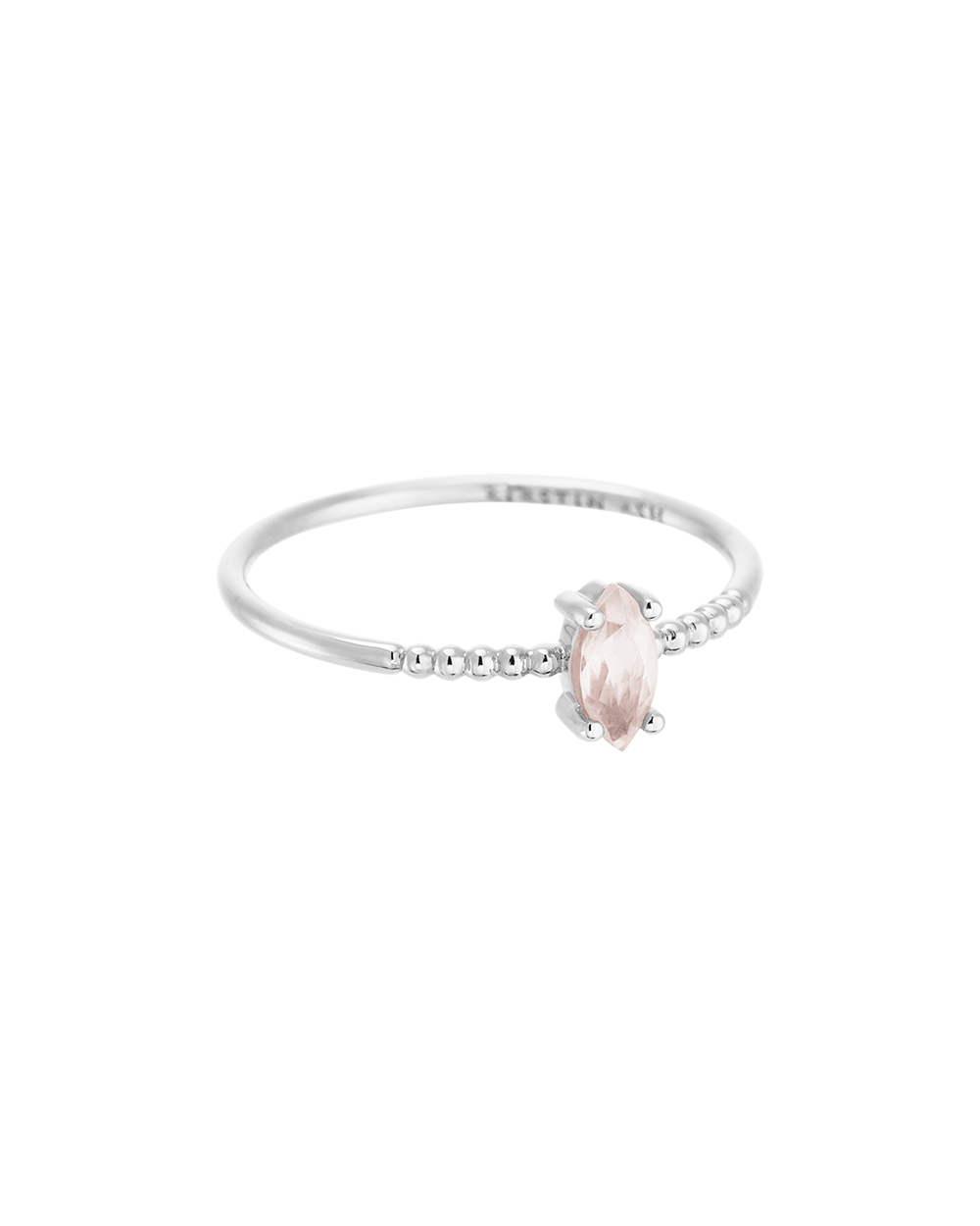 ROSE QUARTZ MARQUISE RING (STERLING SILVER) Image 01