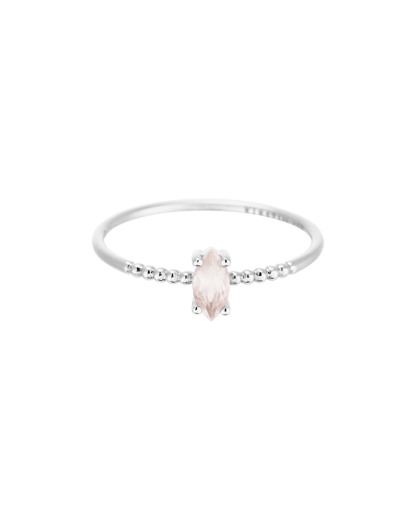 ROSE QUARTZ MARQUISE RING (STERLING SILVER) Product Image 02
