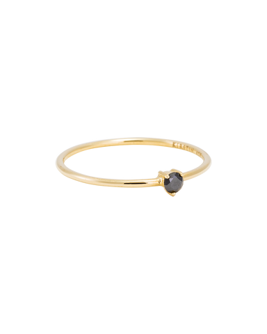 TINY BLACK DIAMOND RING (14K GOLD) Image 01