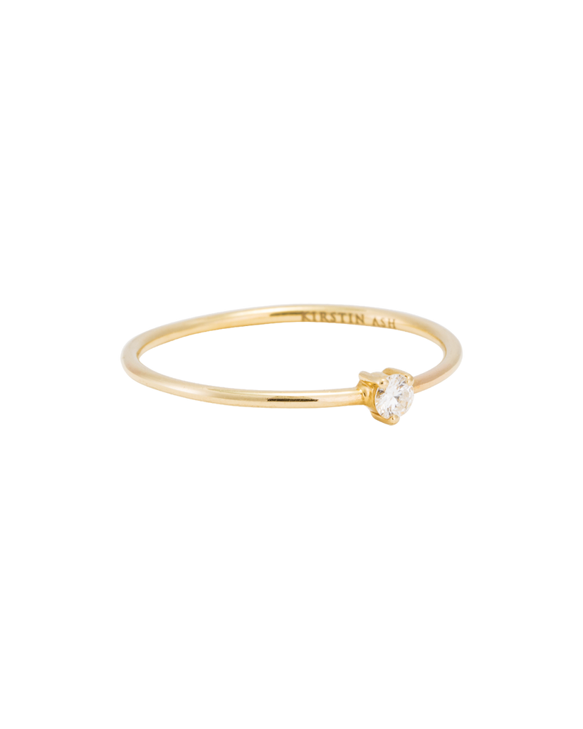 TINY DIAMOND RING (14K GOLD) 01