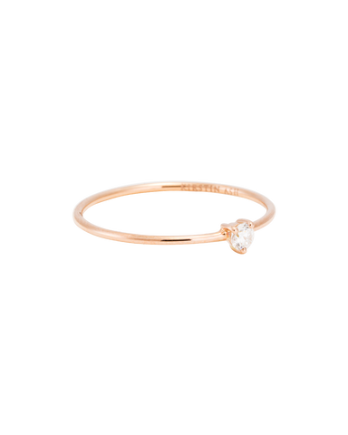 TINY DIAMOND RING (14K ROSE GOLD) 01