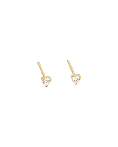 TINY DIAMOND STUDS (14K GOLD) Image 01