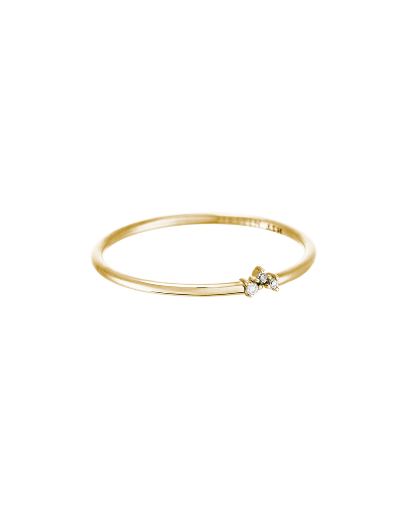 TINY DIAMOND TRIO RING (14K GOLD) Product Image 01