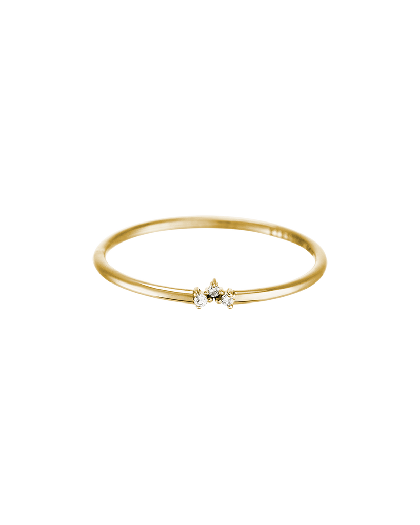 TINY DIAMOND TRIO RING (14K GOLD) Product Image 02