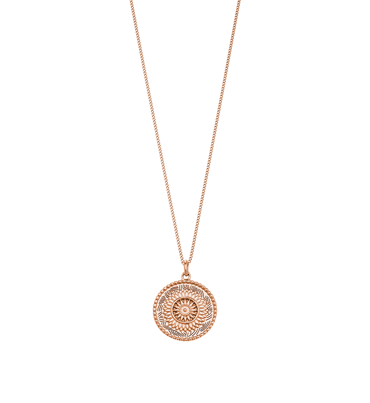 TRAVELLER COIN NECKLACE (18K-ROSE GOLD-VERMEIL)