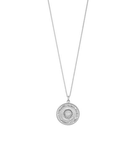 TRAVELLER COIN NECKLACE (STERLING SILVER)