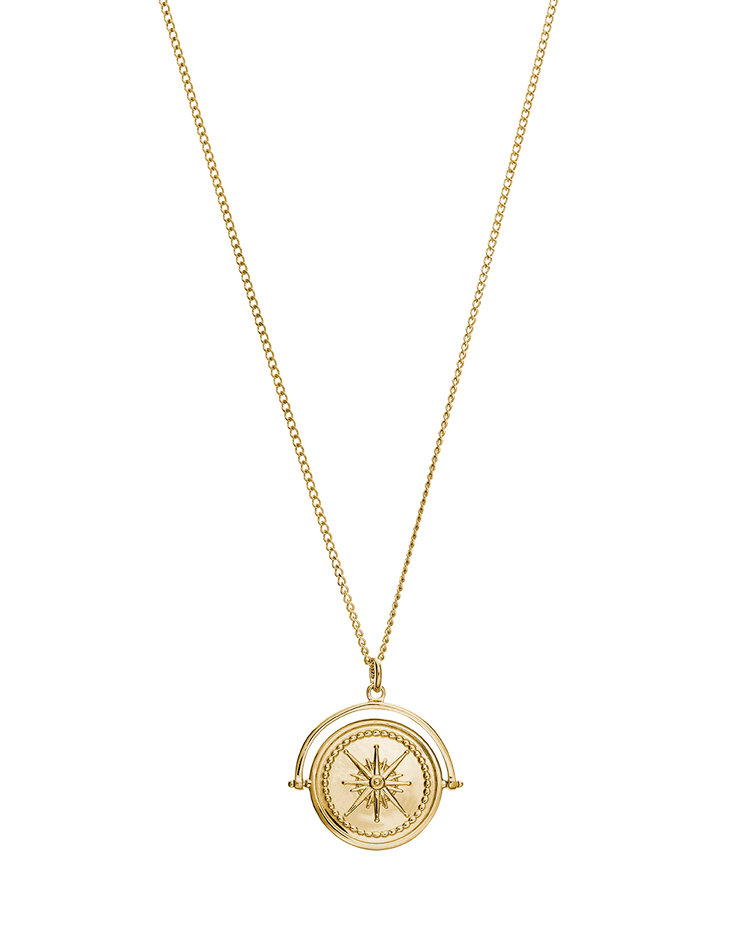 TRUE NORTH SPINNER NECKLACE (18K-GOLD-VERMEIL)