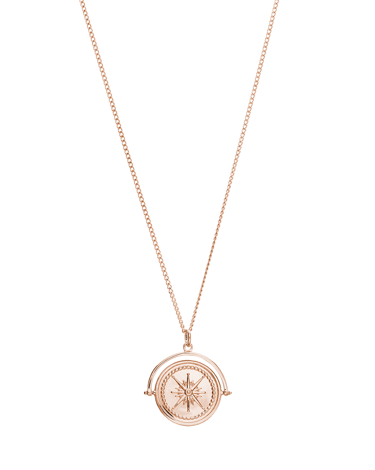 TRUE NORTH SPINNER NECKLACE (18K-ROSE GOLD-VERMEIL)