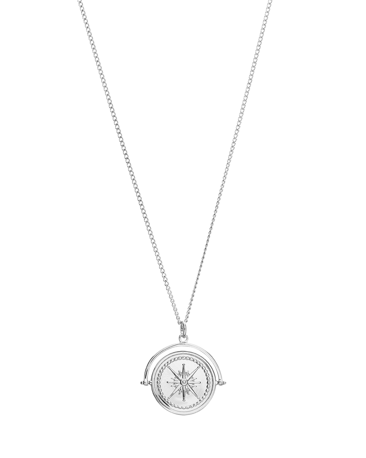 TRUE NORTH SPINNER NECKLACE (STERLING SILVER)