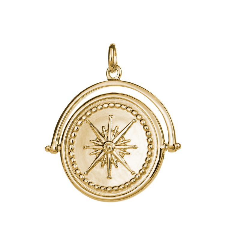 TRUE NORTH SPINNER (18K-GOLD-VERMEIL)