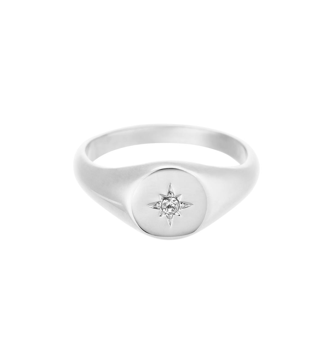 VENUS SIGNET RING (STERLING SILVER)
