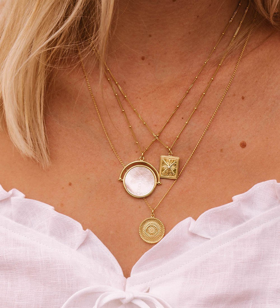 ISLAND PALM SPINNER NECKLACE (18K-GOLD-VERMEIL)