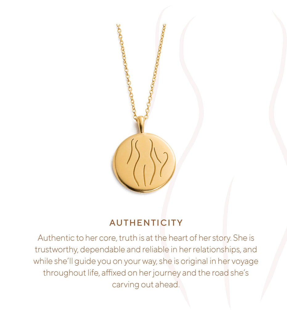 AUTHENTICITY AMULET (18K-GOLD-VERMEIL)