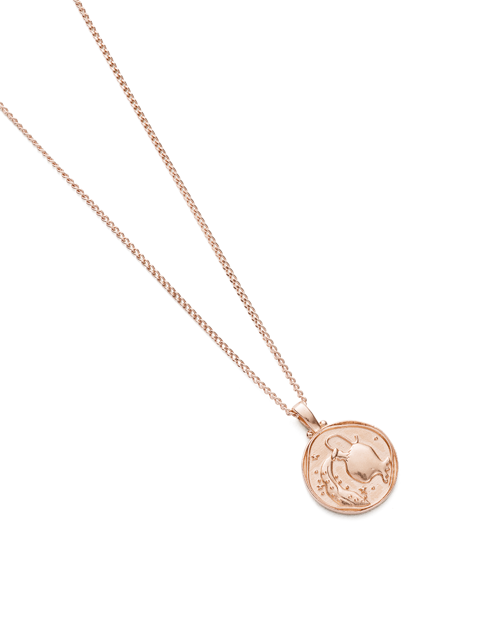 AQUARIUS ZODIAC NECKLACE (18K-ROSE GOLD-VERMEIL)