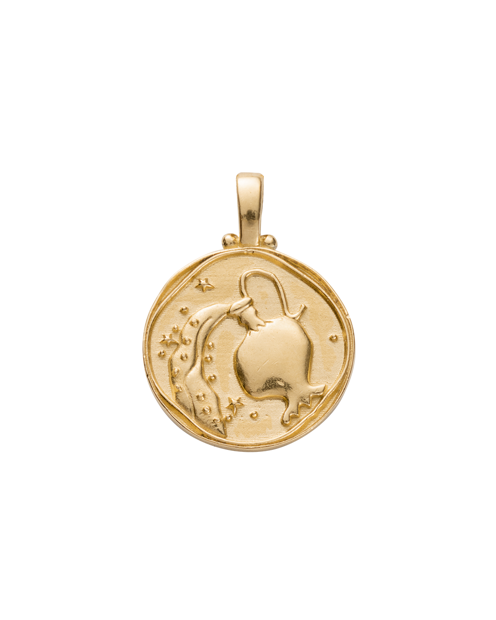 AQUARIUS ZODIAC (18K-GOLD-VERMEIL)
