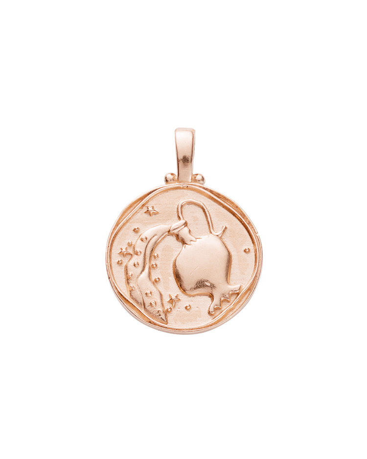 AQUARIUS ZODIAC (18K-ROSE GOLD-VERMEIL)