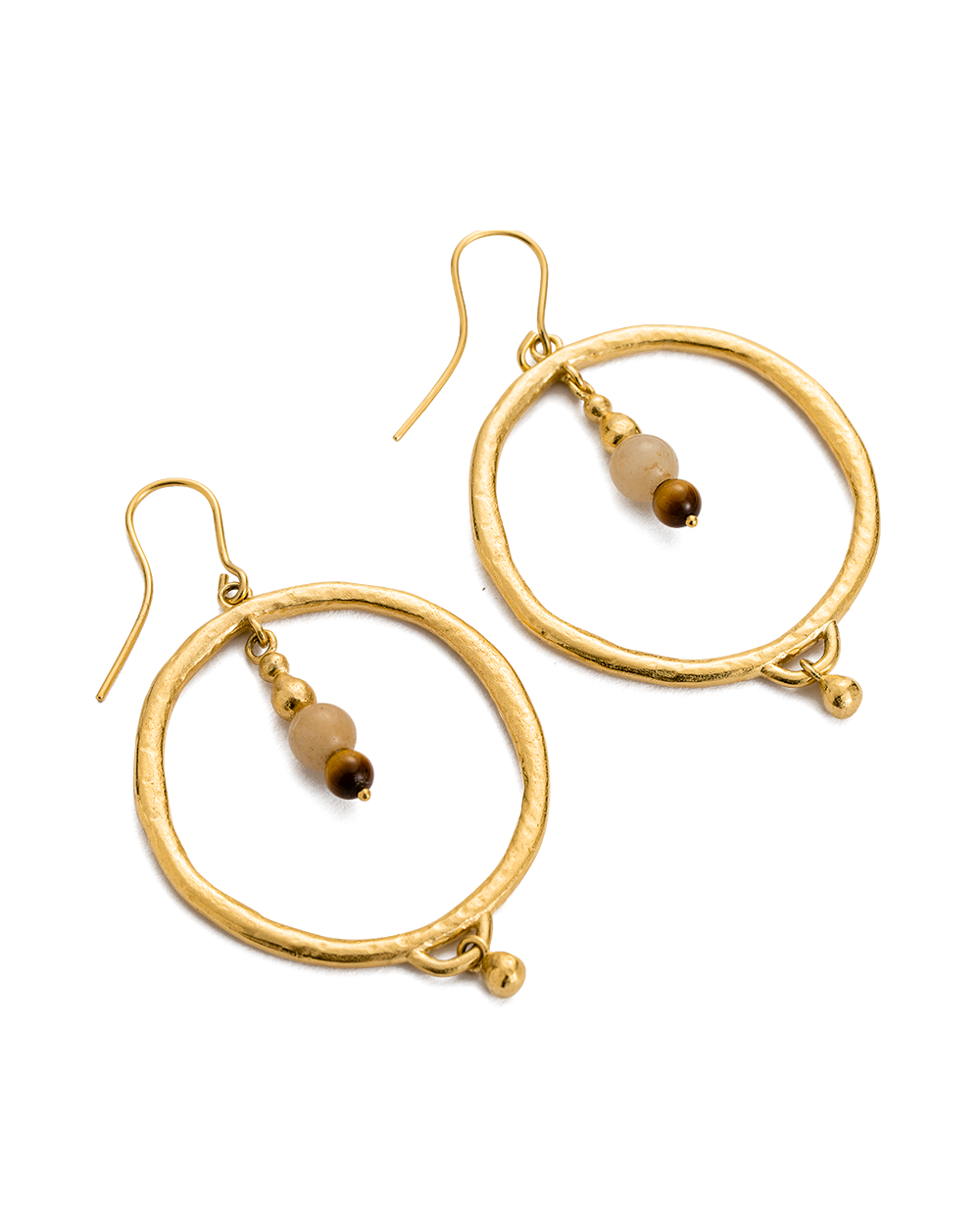 ARTISAN HOOP EARRINGS (18K-GOLD-PLATED)