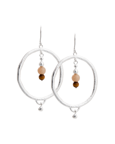 ARTISAN HOOP EARRINGS (STERLING SILVER)