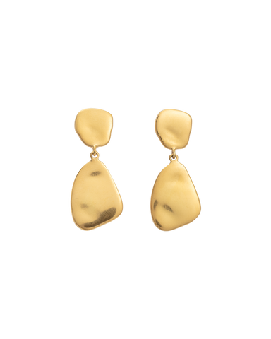 AWAKEN EARRINGS (18K-GOLD-PLATED) - FRONT