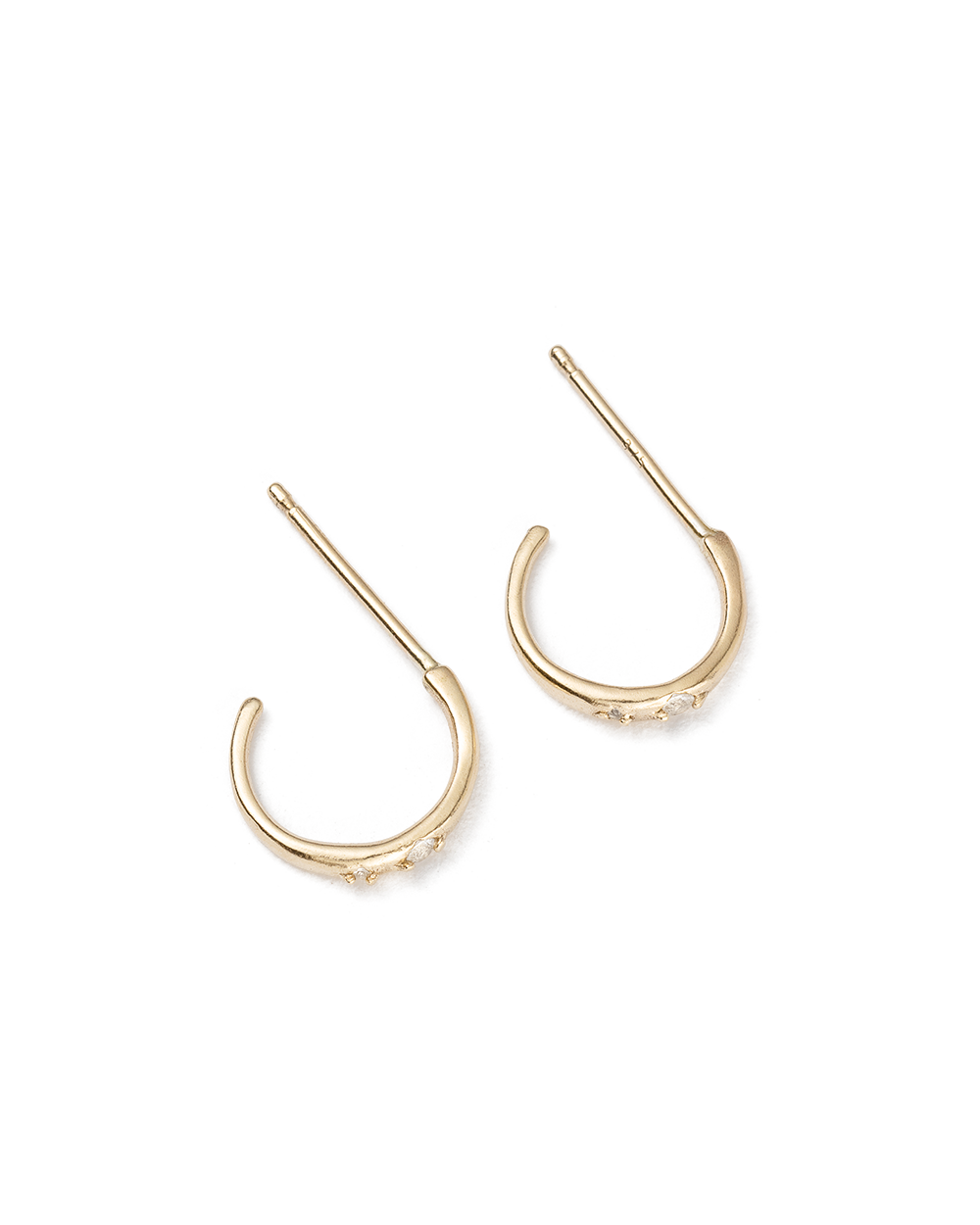 BASK TOPAZ HOOPS (9K GOLD) - SIDE IMAGE