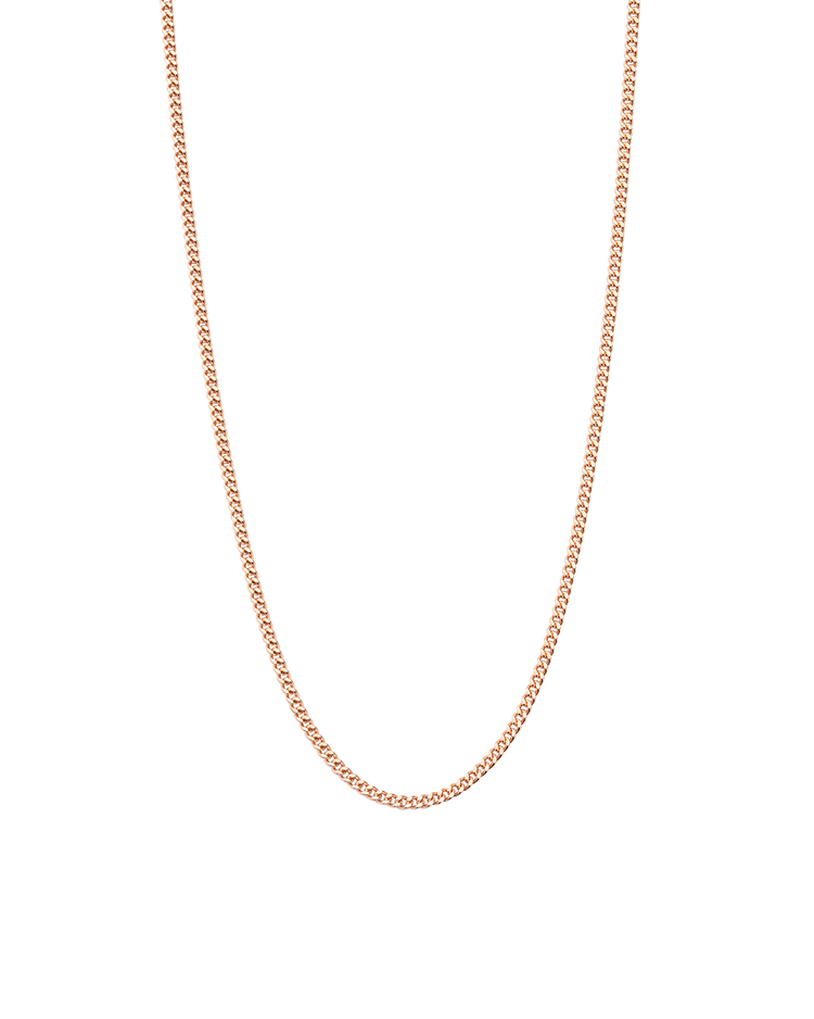 BESPOKE CURB CHAIN (18K-ROSE GOLD-VERMEIL)