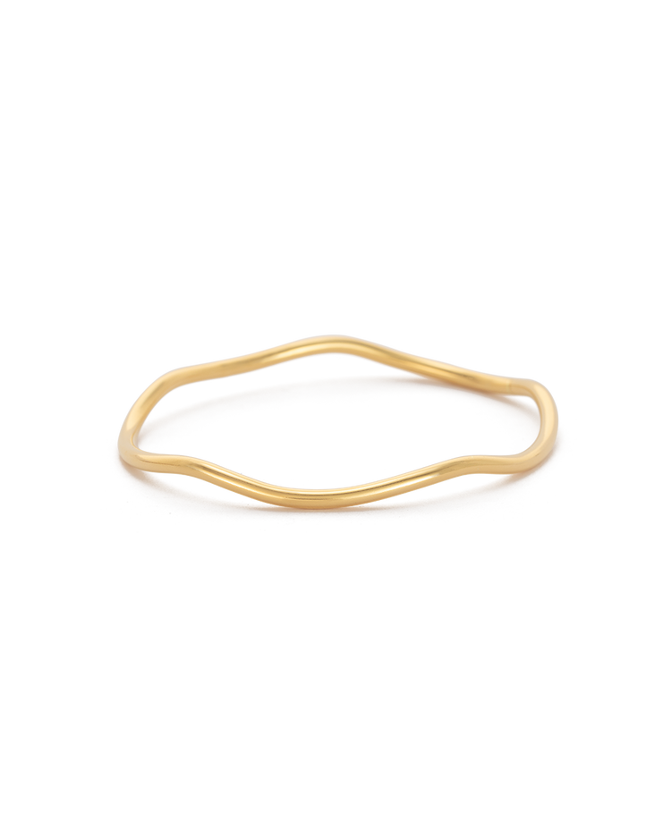BOTANICA BANGLE (18K-GOLD-PLATED) - FRONT