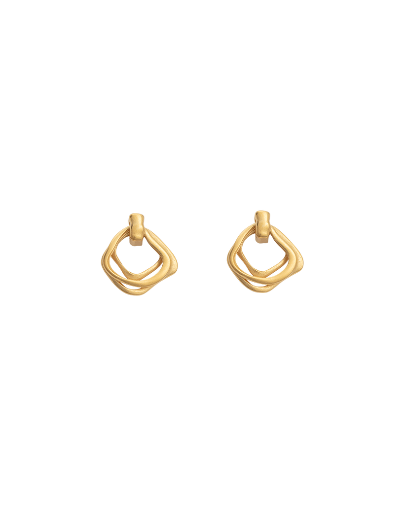 BOTANICA EARRINGS (18K-GOLD-PLATED) - FRONT