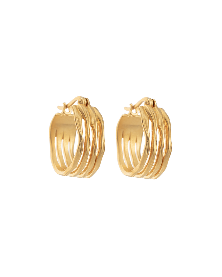 BOTANICA HOOPS (18K-GOLD-PLATED) - FRONT