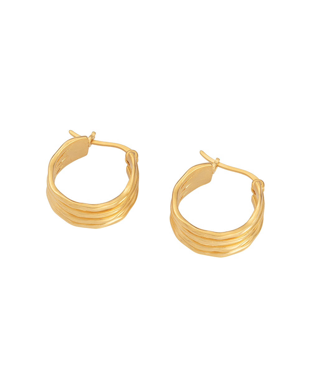 BOTANICA HOOPS (18K-GOLD-PLATED) - SIDE