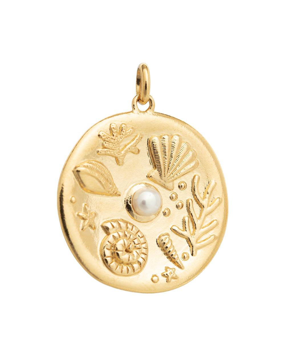 BY THE SEA COIN (18K-GOLD-VERMEIL)