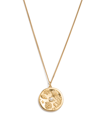 BY THE SEA COIN NECKLACE (18K-GOLD-VERMEIL) 01