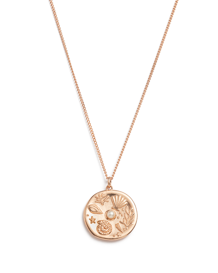 BY THE SEA COIN NECKLACE (18K-ROSE GOLD-VERMEIL)