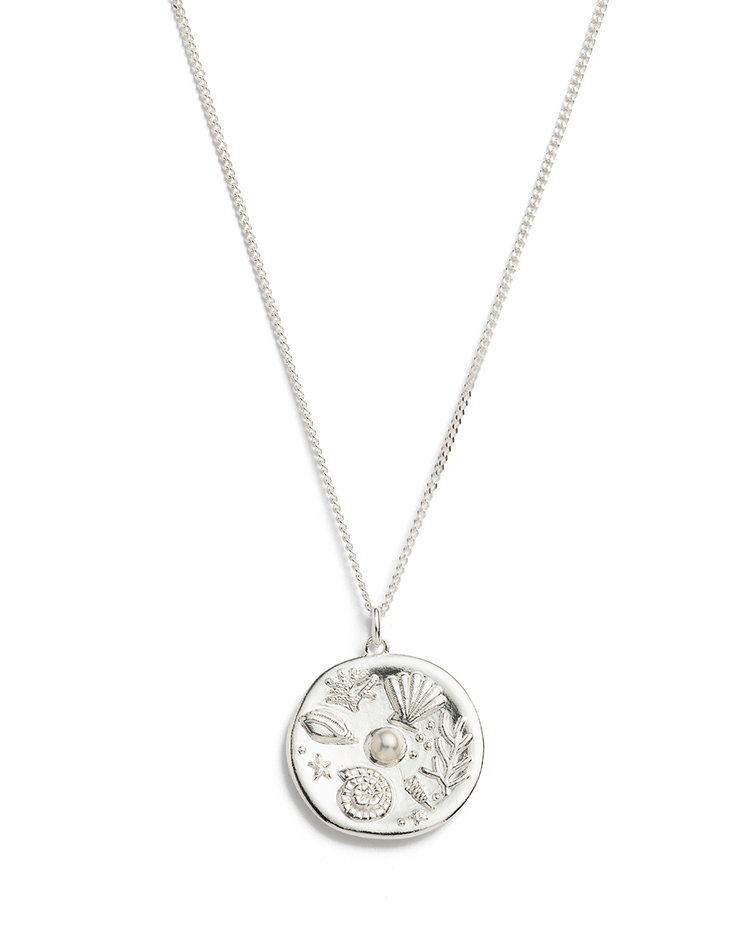 BY THE SEA COIN NECKLACE (STERLING SILVER)