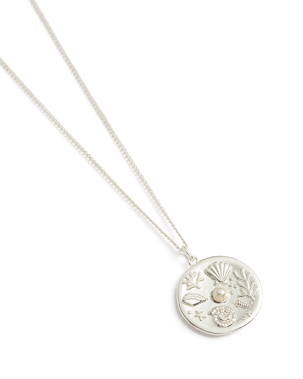 BY THE SEA COIN NECKLACE (STERLING SILVER) 02