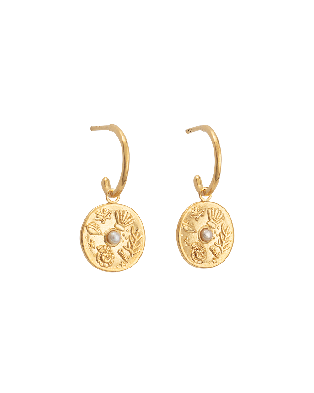 BY THE SEA HOOPS (18K-GOLD-PLATED)-FRONT