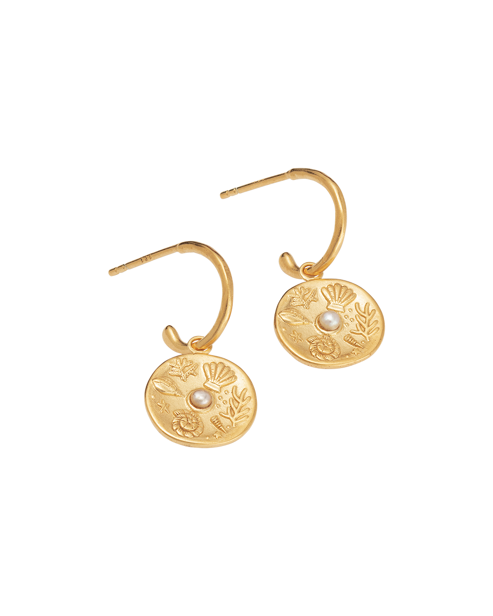 BY THE SEA HOOPS (18K-GOLD-PLATED)-SIDE