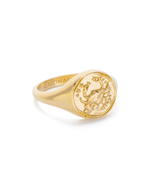 CANCER SIGNET RING (18K-GOLD-VERMEIL)