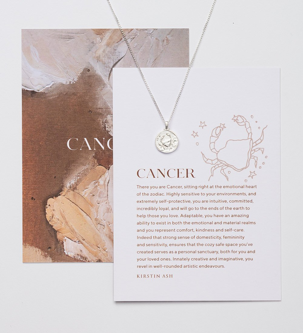 CANCER ZODIAC (STERLING SILVER)