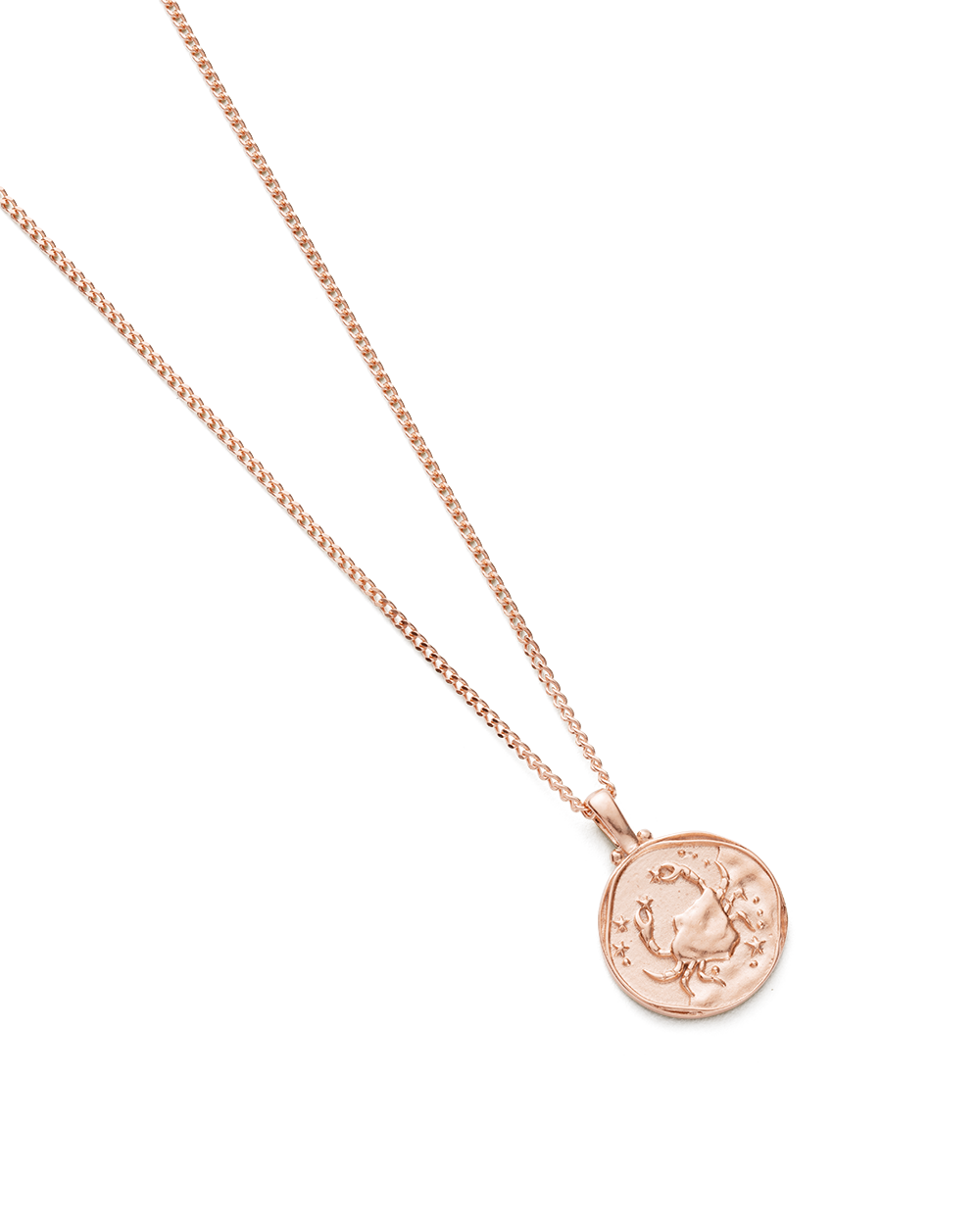 CANCER ZODIAC NECKLACE (18K-ROSE GOLD-VERMEIL)