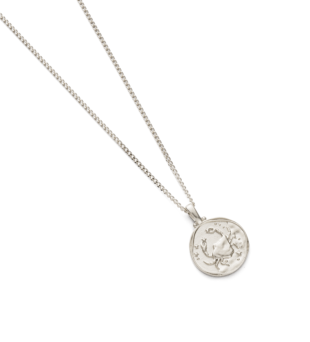 CANCER ZODIAC NECKLACE (STERLING SILVER) - Image 2
