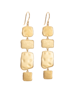 CASCADE EARRINGS (18K-GOLD-PLATED) - FRONT