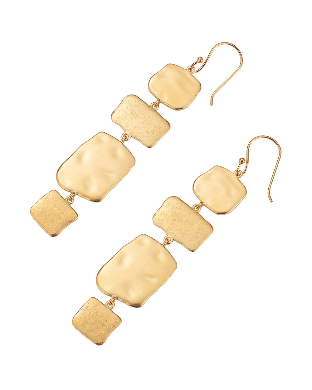 CASCADE EARRINGS (18K-GOLD-PLATED) - SIDE