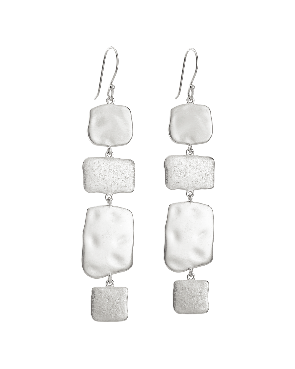 CASCADE EARRINGS (STERLING SIlVER) - FRONT