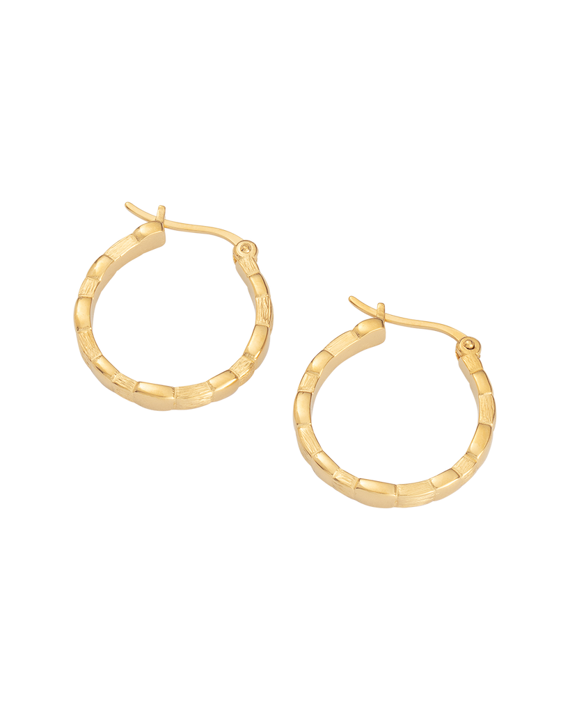 CASCADE HOOPS (18K-GOLD-PLATED)