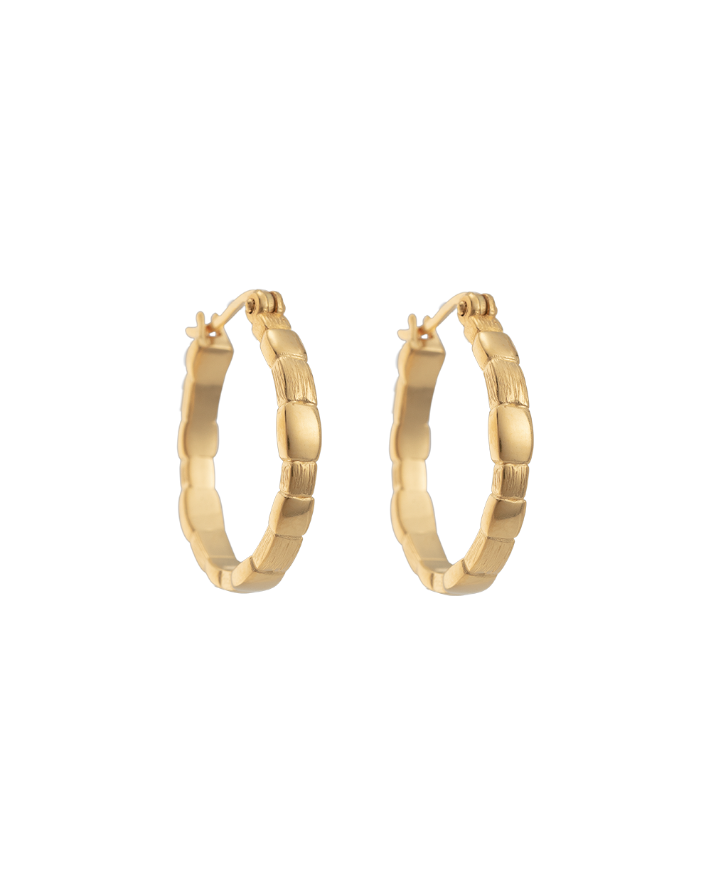 CASCADE HOOPS (18K-GOLD-PLATED) - FRONT