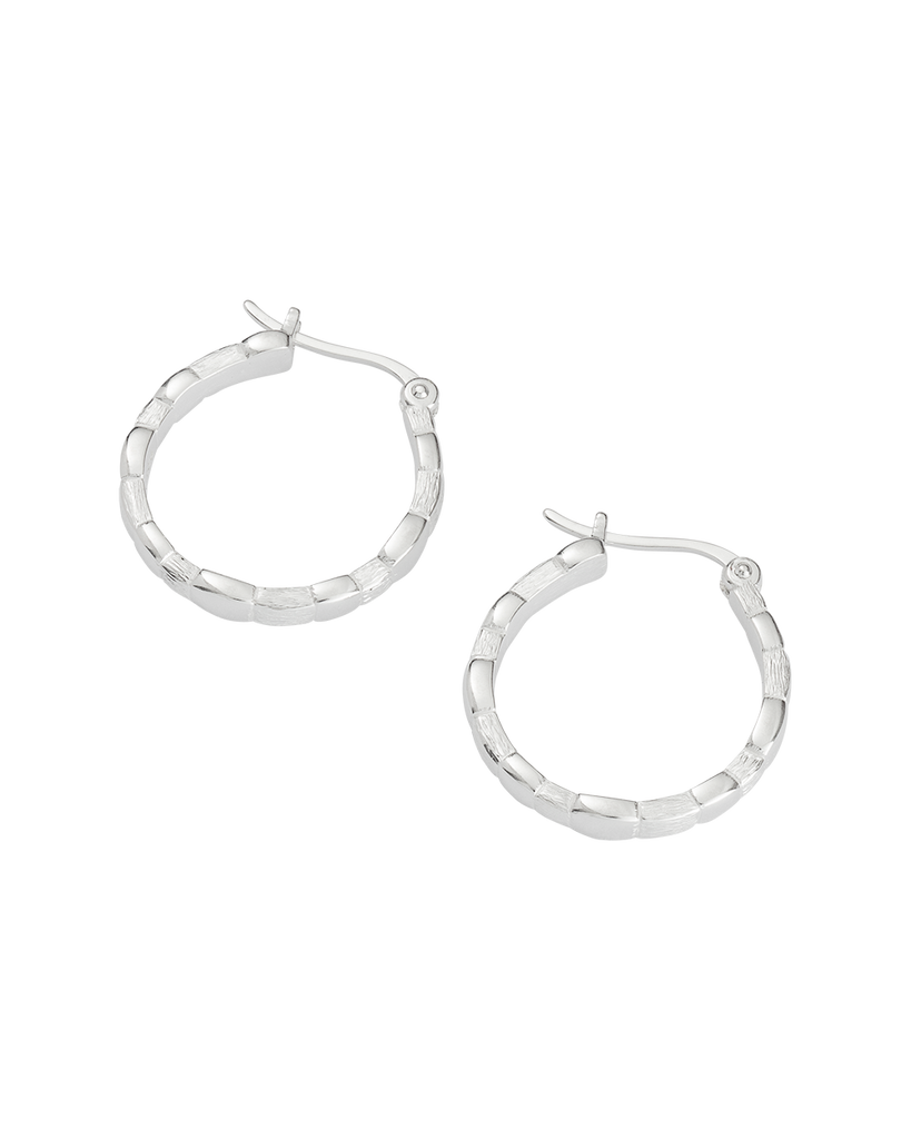 CASCADE HOOPS (STERLING SIlVER) - SIDE