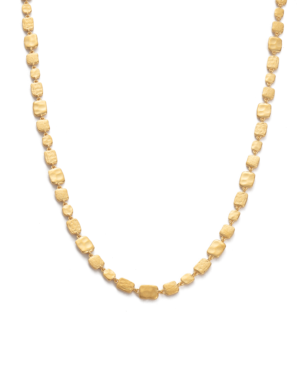 CASCADE NECKLACE (18K-GOLD-PLATED) - FRONT