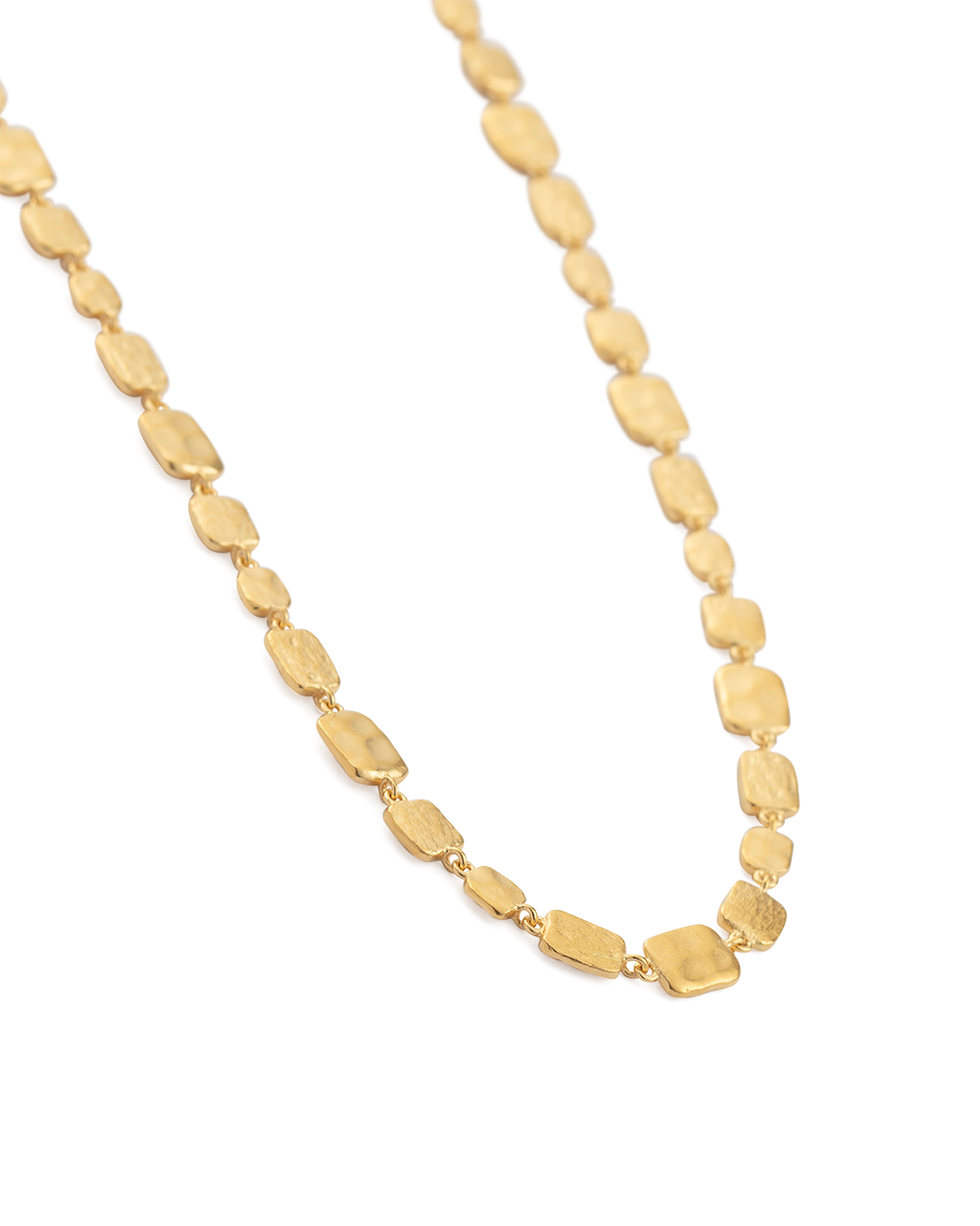 CASCADE NECKLACE (18K-GOLD-PLATED) - SIDE