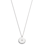 CLASSIC CIRCLE DIAMOND NECKLACE (STERLING SILVER)