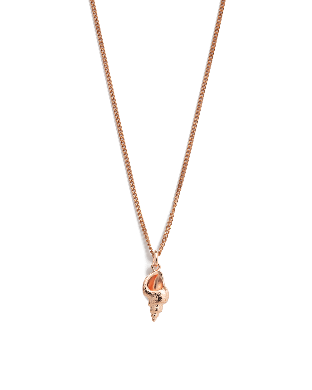 CONCH SHELL NECKLACE (18K-ROSE GOLD-VERMEIL)
